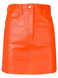 Manokhi straight mini skirt - Orange