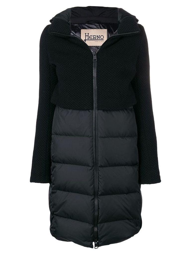 Herno hybrid padded jacket - Black
