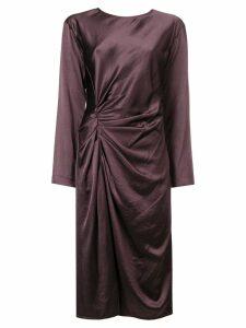 Helmut Lang midi crinkle dress - PINK