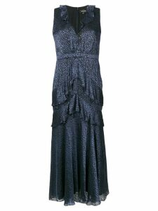Saloni sleeveless tiered dress - Blue