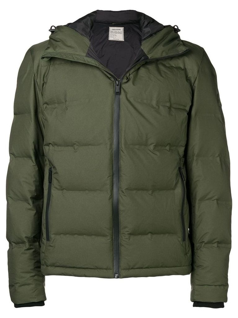 Zadig & Voltaire Boho hood padded jacket - Green