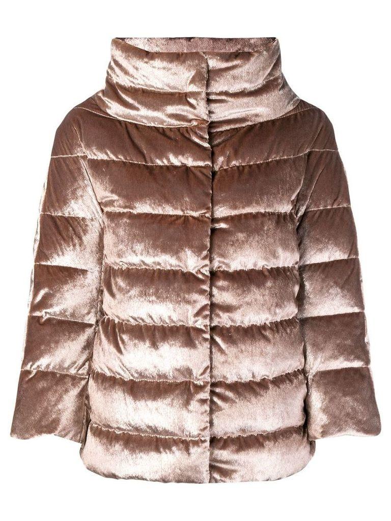 Herno funnel neck padded jacket - Brown