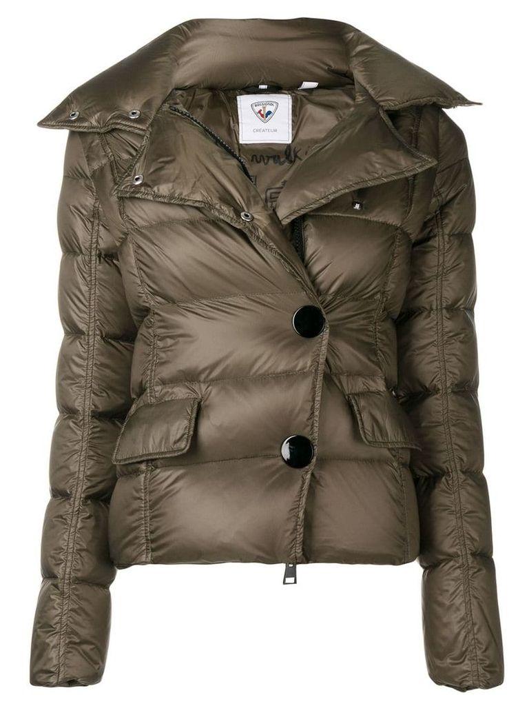 Rossignol snap fastening padded jacket - Green
