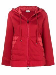 Moncler puffer hoodie jacket - Red