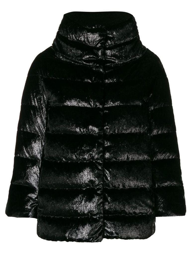 Herno velvet puffer jacket - Black
