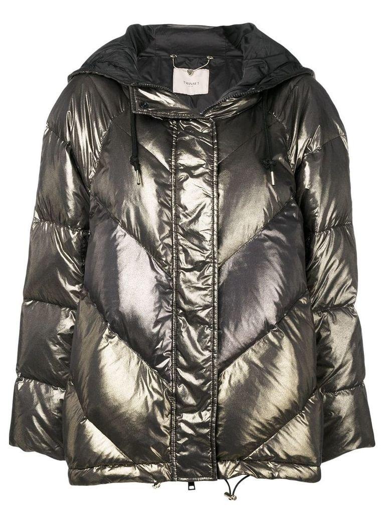 Twin-Set metallic puffer jacket