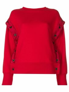 Unravel Project shell trim sweatshirt - Red