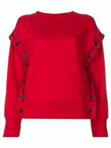 Unravel Project shell trim sweatshirt - Red