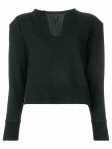 Unravel Project cropped jumper - Black