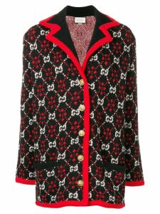 Gucci logo pattern cardigan - Black