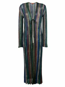 Missoni striped long cardigan - Blue