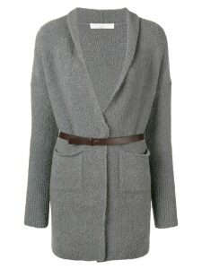 Fabiana Filippi long sleeved cardigan - Grey