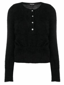 Tom Ford tube sleeve cardigan - Black
