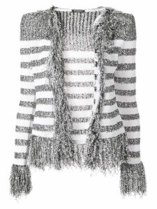 Balmain fringed cardigan - Grey