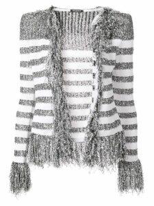 Balmain fringed cardigan - Grey
