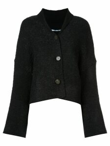 Rosetta Getty long-sleeve flared cardigan - Black