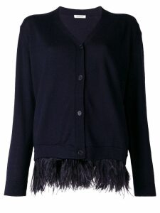 P.A.R.O.S.H. feather trim cardigan - Blue
