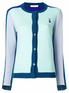 Peter Jensen colourblock cardigan - Blue