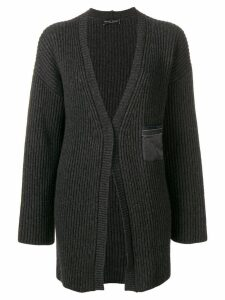 Fabiana Filippi My Private life cashmere rib knit cardigan - Grey