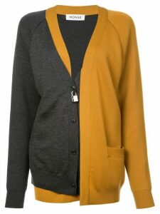 Monse bicolour layered cardigan - Black