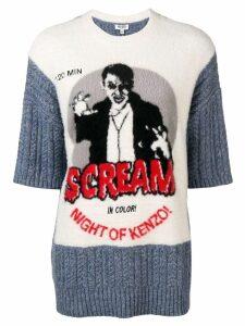 Kenzo Scream knit jumper - Blue