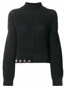 Versus logo charm sweater - Black