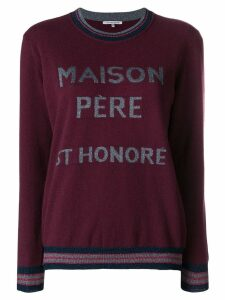 Maison Père logo knit sweater - Red