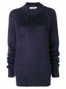 Jil Sander furry knit jumper - Blue