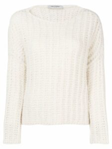 Valentino boat neck jumper - White