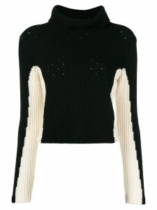 Cashmere In Love cashmere color-block jumper - Black