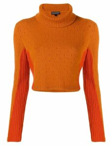 Cashmere In Love cashmere two tone jumper - Yellow