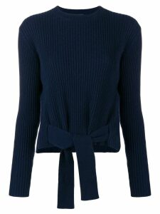 Cashmere In Love cashmere tie waist jumper - Blue