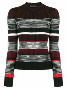 Proenza Schouler Striped Rib crew neck - PINK