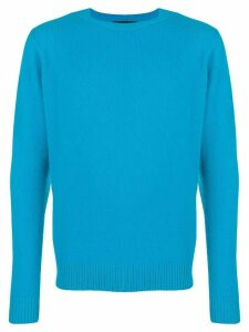 The Elder Statesman classic crew neck jumper - Blue