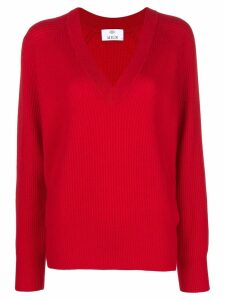 Allude v-neck jumper - Red