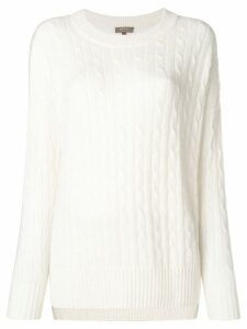 N.Peal cable knit jumper - White