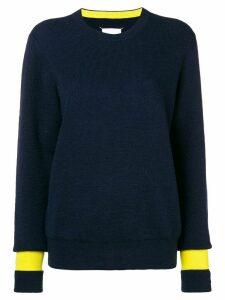 Maison Margiela contrast cuff knitted jumper - Blue