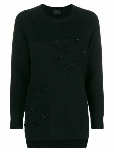 Simone Rocha patchwork knit jumper - Black