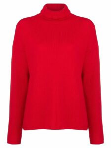 Opportuno Kessie roll neck jumper - Red