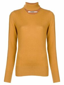 Chalayan split neck sweater - Yellow