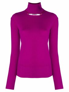 Chalayan split neck sweater - Pink