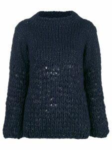 Gentry Portofino lurex knit jumper - Blue