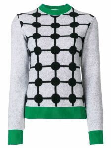Marni grid intarsia jumper - Grey