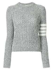 Thom Browne Wool Blend Crewneck Pullover - Grey