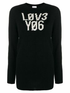 RedValentino graphic knitted jumper - Black