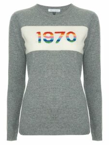 Bella Freud 1970 print sweater - Grey