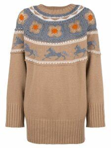 Alberta Ferretti oversized jumper - Neutrals