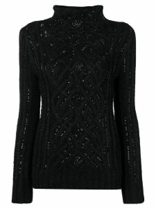 Ermanno Scervino crystal embellished sweater - Black
