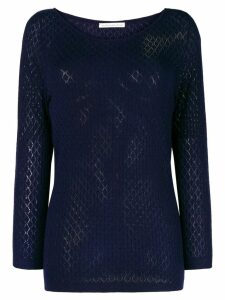 Stefano Mortari fine knit fitted sweater - Blue