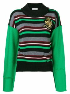 JW Anderson logo crest knitted jumper - Green